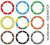 circle  ring arrow. set of... | Shutterstock . vector #426500719