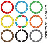 circle  ring arrow. set of... | Shutterstock . vector #426500725