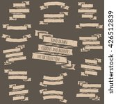 hand drawn set of ribbons and... | Shutterstock .eps vector #426512839
