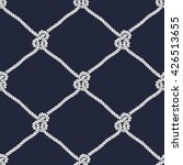 seamless nautical rope pattern. ... | Shutterstock .eps vector #426513655