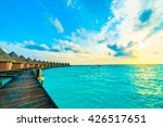 beautiful tropical maldives... | Shutterstock . vector #426517651