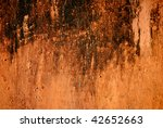 orange aged rusty wall  texture | Shutterstock . vector #42652663