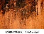 orange aged rusty wall  texture | Shutterstock . vector #42652663