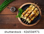 Chicken Skewers With Slices Of...