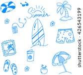 summer of doodles for kids... | Shutterstock .eps vector #426543199