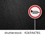road sign circular shape with a ... | Shutterstock . vector #426546781