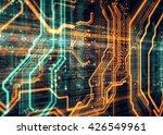 orange  blue background with... | Shutterstock . vector #426549961