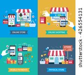 shopping flat design... | Shutterstock .eps vector #426554131
