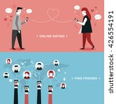 online dating flat design... | Shutterstock .eps vector #426554191