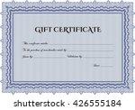 gift certificate. detailed.... | Shutterstock .eps vector #426555184