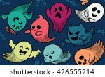 seamless pattern with various... | Shutterstock .eps vector #426555214