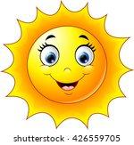 cute cartoon sun   Shutterstock .eps vector #426559705