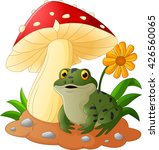 cute frog with mushrooms | Shutterstock .eps vector #426560065