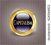 capitalism gold emblem | Shutterstock .eps vector #426566821