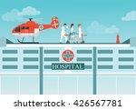 medical emergency chopper... | Shutterstock .eps vector #426567781