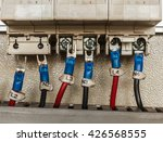 wiring    control panel with... | Shutterstock . vector #426568555