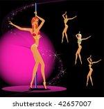 set of beautiful young women...   Shutterstock .eps vector #42657007