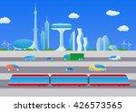 light rail transit and smart... | Shutterstock .eps vector #426573565
