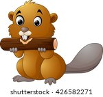 illustration of a beaver on a... | Shutterstock . vector #426582271