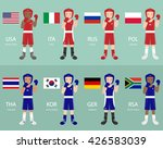 boxer from different countries | Shutterstock .eps vector #426583039