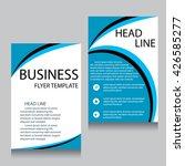 vector brochure flyer design... | Shutterstock .eps vector #426585277