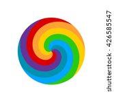 Rainbow Round Spiral Circle...