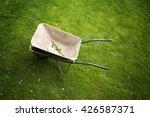 Old Rusty Wheelbarrow On A...