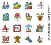 icon set xmas vector | Shutterstock .eps vector #426589444