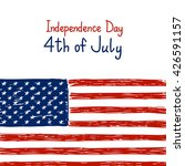 independence day card with... | Shutterstock .eps vector #426591157