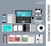 vector workplace business... | Shutterstock .eps vector #426598045
