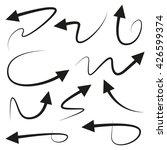 vector illustration of arrows | Shutterstock .eps vector #426599374