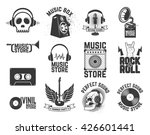 Set Of  Music Store Labels....