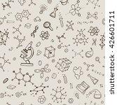 seamless chemistry background.... | Shutterstock .eps vector #426601711