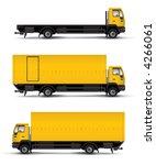 truck car template vector...   Shutterstock . vector #4266061