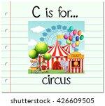 flashcard letter c is for... | Shutterstock .eps vector #426609505