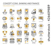 banking and finance   thin line ... | Shutterstock .eps vector #426609889