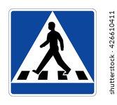 sweden crosswalk sign   Shutterstock .eps vector #426610411
