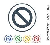 prohibited icon isolated on