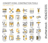 construction tools   thin line... | Shutterstock .eps vector #426623101