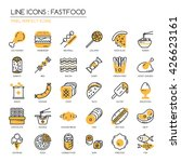 fastfood   thin line and pixel... | Shutterstock .eps vector #426623161