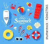 vector summertime top view... | Shutterstock .eps vector #426627061