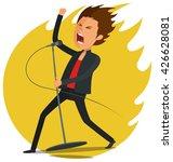 male singer singing...   Shutterstock .eps vector #426628081