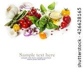 fresh vegetables over white... | Shutterstock . vector #426628165