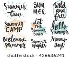 summer lettering design st.... | Shutterstock .eps vector #426636241