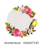 vintage floral card for wedding.... | Shutterstock . vector #426637135