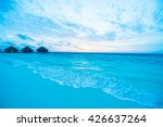 beautiful tropical beach and... | Shutterstock . vector #426637264