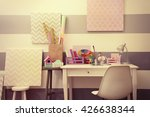 colorful design workplace at... | Shutterstock . vector #426638344
