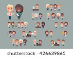 business people vector set | Shutterstock .eps vector #426639865