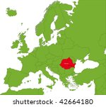 location of romania on the... | Shutterstock .eps vector #42664180