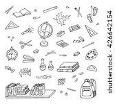 hand drawn school items. doodle ... | Shutterstock .eps vector #426642154